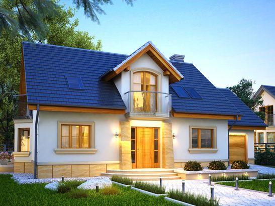 Projekt domu Szmaragd - widok 1