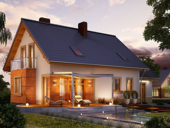 Projekt domu Enklawa - widok 1