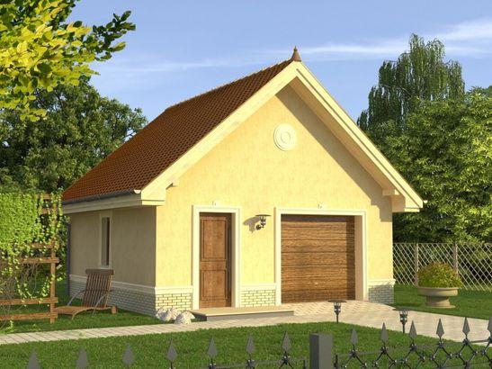 Projekt domu Garaż 3 - widok 1