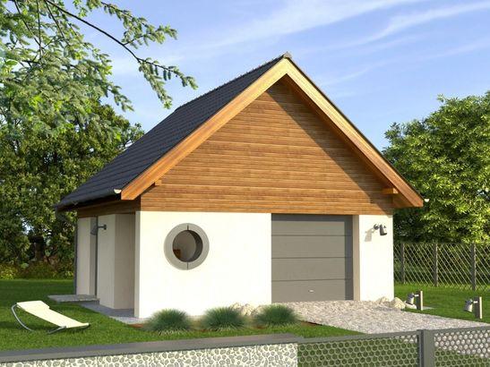 Projekt domu Garaż 4 - widok 1