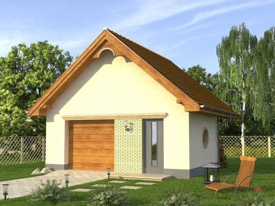 Projekt domu Garaż 6 - widok 1