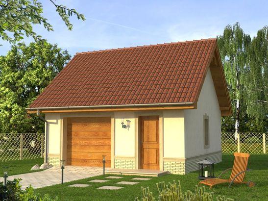 Projekt domu Garaż 9 - widok 1