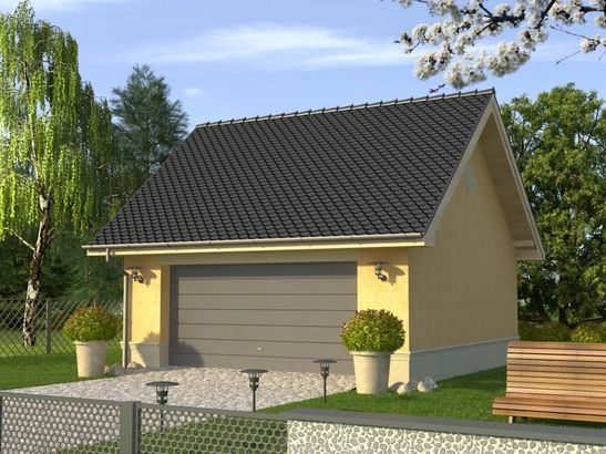 Projekt domu Garaż 10 - widok 1