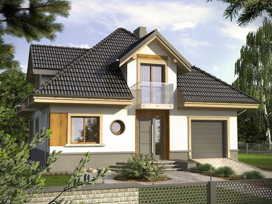 Projekt domu Alassio - widok 1