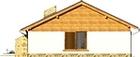 Projekt domu Bahama - elewacja tylna