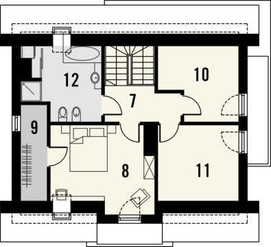 Projekt domu Murano S - rzut poddasza