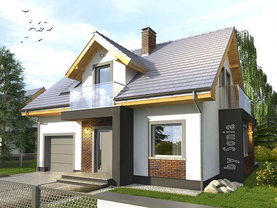 Projekt domu Murano S - widok 1