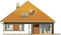 Projekt domu Abstrakcja S - elewacja tylna