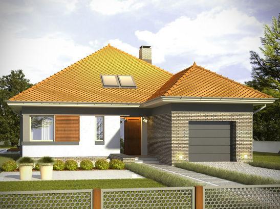 Projekt domu Abstrakcja S - widok 2