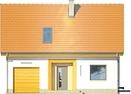 Projekt domu Iskra - elewacja przednia