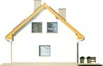 Projekt domu Iskra - elewacja boczna 1