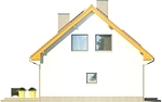 Projekt domu Iskra - elewacja boczna 2