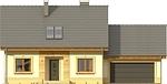 Projekt domu Elegant 2G - elewacja przednia