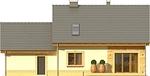 Projekt domu Elegant 2G - elewacja tylna