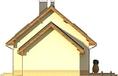 Projekt domu Elegant 2G - elewacja boczna 2