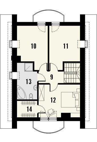 Projekt domu Esencja - rzut poddasza