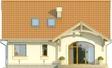 Projekt domu Lapis 2  - elewacja tylna