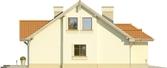 Projekt domu Lapis 2  - elewacja boczna 2