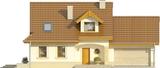 Projekt domu Orzech 2G - elewacja przednia