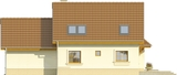 Projekt domu Orzech 2G - elewacja tylna
