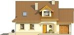Projekt domu Orzech - elewacja przednia