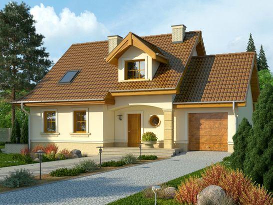 Projekt domu Orzech - widok 1