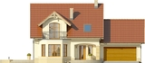 Projekt domu Piano 2G - elewacja przednia