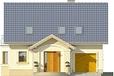 Projekt domu Roma - elewacja przednia