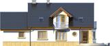Projekt domu Szmaragd 2G - elewacja tylna