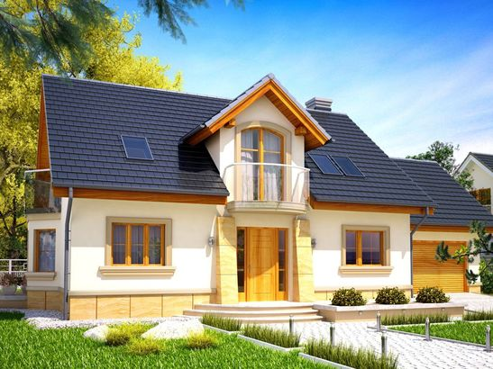 Projekt domu Szmaragd 2G - widok 1