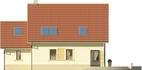 Projekt domu Piano - elewacja tylna