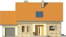 Projekt domu Gradient - elewacja przednia