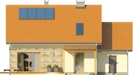 Projekt domu Gradient - elewacja tylna