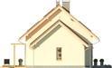 Projekt domu Gradient - elewacja boczna 2