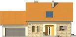 Projekt domu Gradient 2G - elewacja przednia