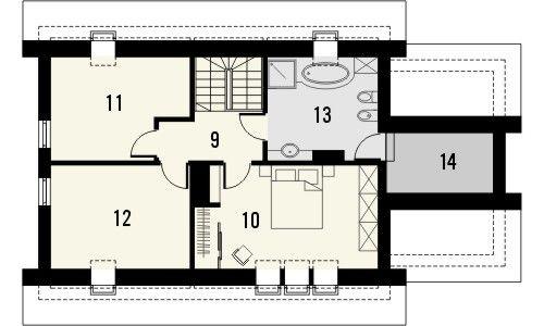 Projekt domu Ideal - rzut poddasza