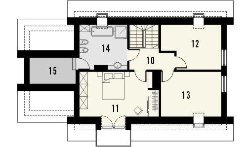 Projekt domu Umbria - rzut poddasza