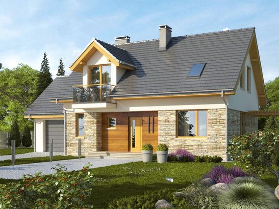 Projekt domu Umbria - widok 1