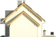 Projekt domu Umbria 2 2G - elewacja boczna 2