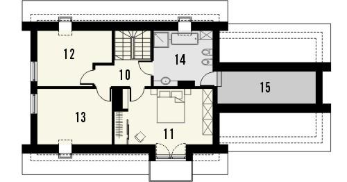 Projekt domu Umbria 2 2G - rzut poddasza