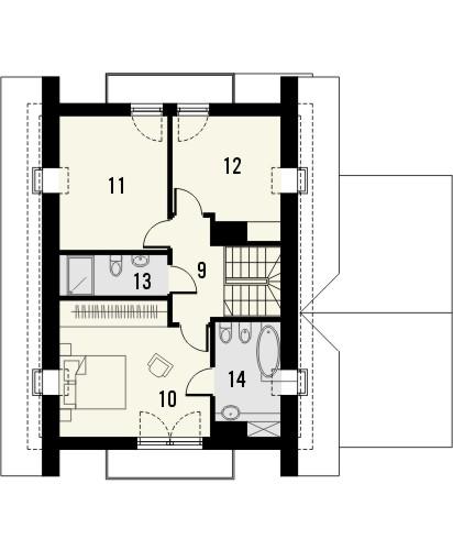 Projekt domu Maestro - rzut poddasza