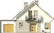 Projekt domu Grappa - elewacja przednia