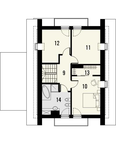 Projekt domu Grappa - rzut poddasza