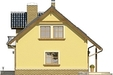 Projekt domu Granat - elewacja boczna 1