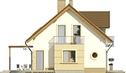 Projekt domu Enklawa 2 - elewacja boczna 1