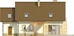 Projekt domu Enklawa 2 - elewacja tylna