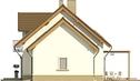 Projekt domu Enklawa 2 - elewacja boczna 2