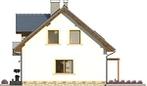 Projekt domu Estyma 2 - elewacja boczna 1