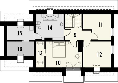 Projekt domu Estyma 2 - rzut poddasza