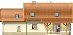 Projekt domu Granat 2 2G - elewacja tylna